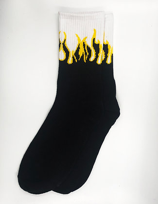 FLAME SOCKS BLACK YELLOW