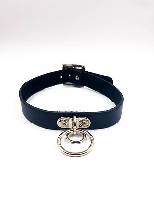 COEXIST CHOKER WITH  SMAL AND BIG RING