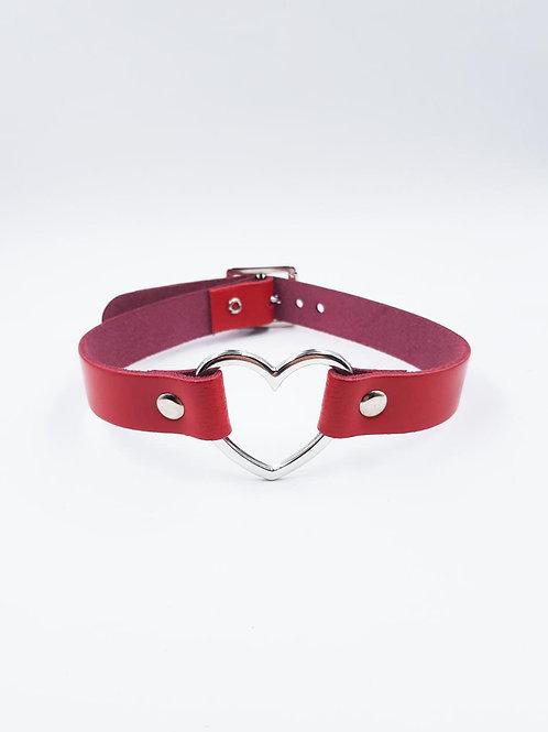 HEART RED SMALL CHOKER