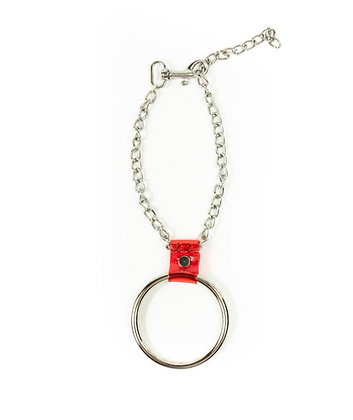 LUI TRASH BIG O-RING CHAIN + RED PVC NECKLACE