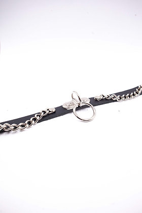 COEXIST  CHOKER WITH CHAIN AND HANGING RING