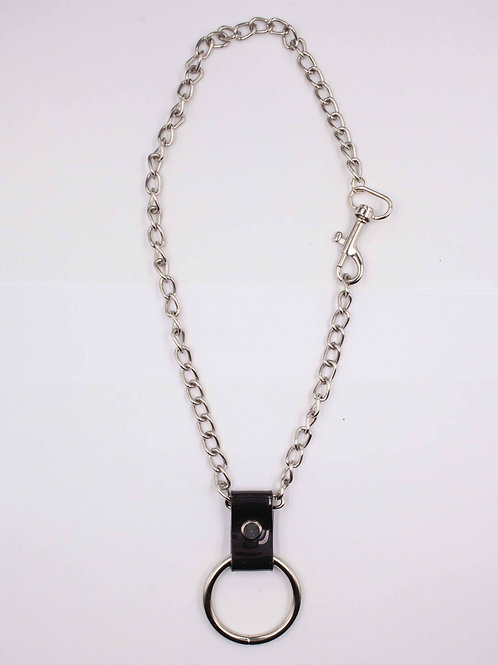 LUI TRASH SMALL O-RING ON CHAIN BLACK
