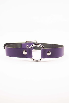 COEXIST PURPLE CHOKER WITH RING