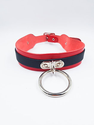 COEXIST CHOKER BIG RED WITH RING