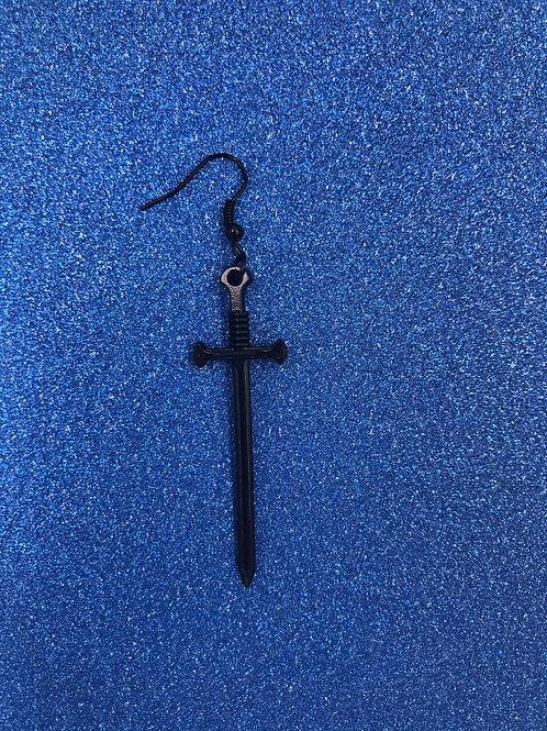 BLACK SWORD EARRING
