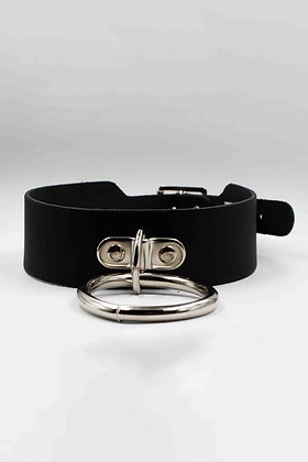 COEXIST BLACK BIG CHOKER WITH BIG RING