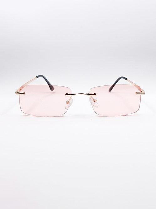 PINK/ORANGE SQUARE GLASSES