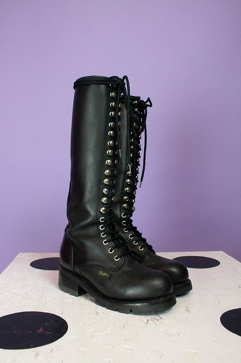 VINTAGE BUFFALO TIE UP BOOTS