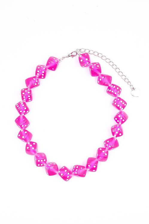 EXIT PINK DICE CHOKER