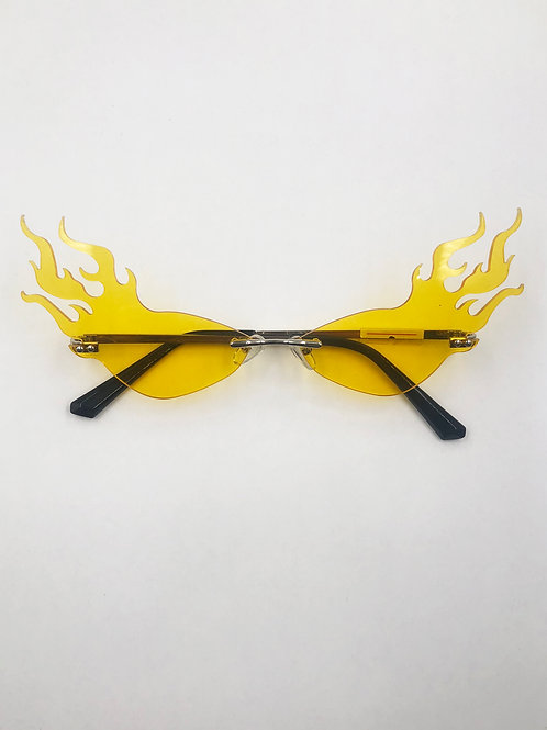 EXIT YELLOW HIGHER FLAME GLASSES