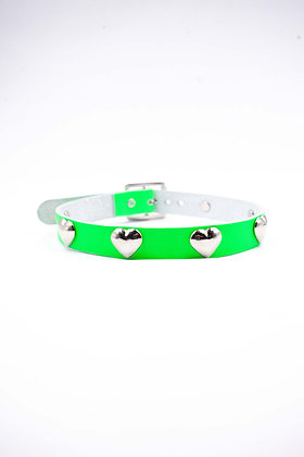 COEXIST GREEN HEART STUDS CHOKER