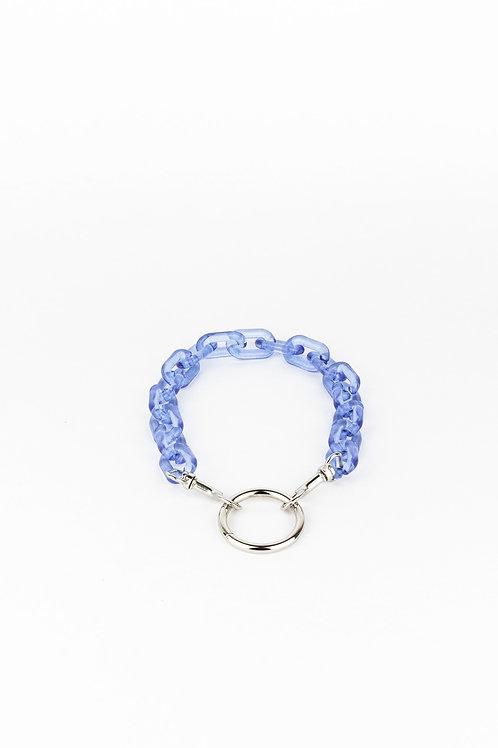 LUI TRASH PLASTIC CHAIN O RING BLUE