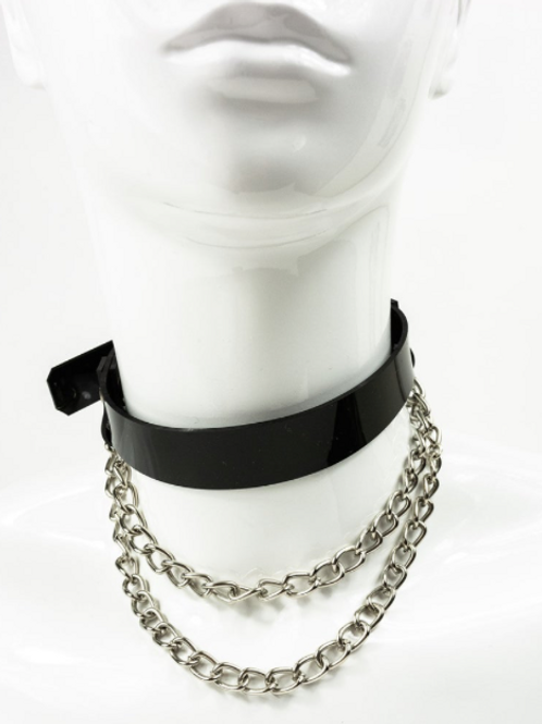 LUI TRASH WATERFALL CHOKER BLACK