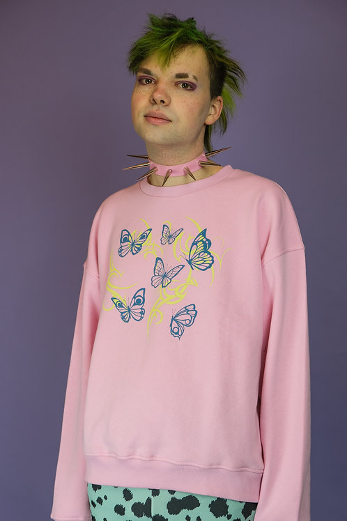 NEW GIRL ORDER BUTTERFLY SWEATER
