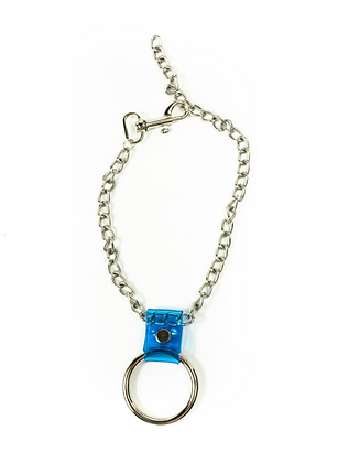 LUI TRASH SMALL O-RING CHAIN + BLUE PVC NECKLACE