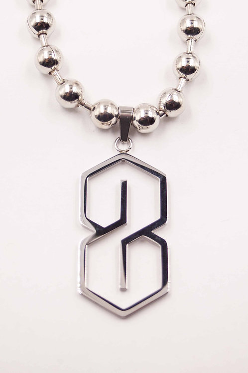 90s S BALL NECKLACE