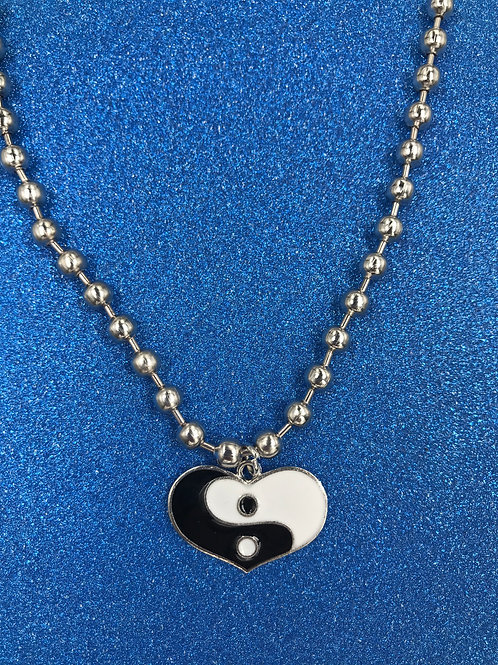 EXIT YING YANG HEART NECKLACE