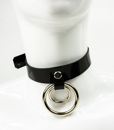 LUI TRASH Double O-Ring CHOKER black