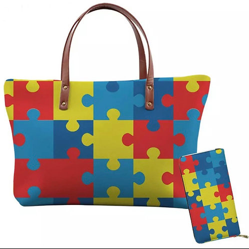 Puzzle bag and wallet