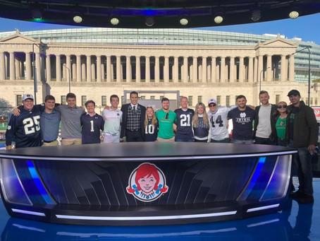 Notre Dame Student-Veterans Join Brady Quinn at Big Noon Kickoff