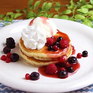 パンケーキ(アイスクリーム添え)