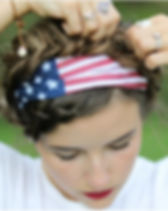 Simple Switch American Flag Turban Headband hat Gives Back.