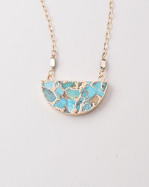 The Lemonade Boutique Lexis Turquoise Half Moon Necklace