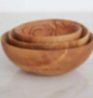 Bought Beautifully olive wood dipping bowls, handmade in Jordan.