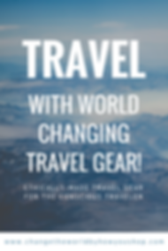 World Changing Travel Gea for the Conscious Traveler!  Where to find fair trade, ethically-made and eco-friendy travel gear. #fairtrade #travel #conscioustravel