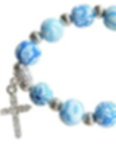 The Lemonade Boutique Blue Cross Bracelet.