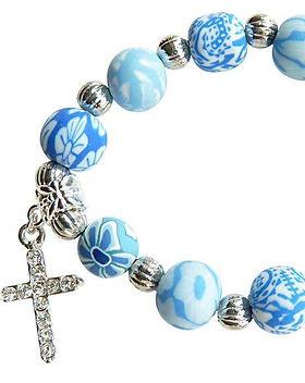 The Lemonade Boutique Blue Cross Bracelet.