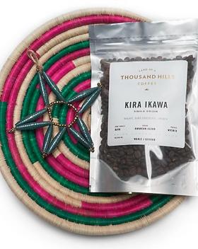 Land of a Thousand Hills Rwandan Peace Basket Coffee Gift Set.