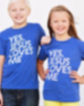 Hope Outfitters Yes Jesus Loves Me T-Shirt for Kids. Ethically-made Christian apparel that gives back to charity.