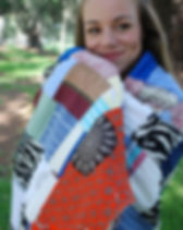 2nd Story Goods pieces throw blanket. Handmade in Haiti.