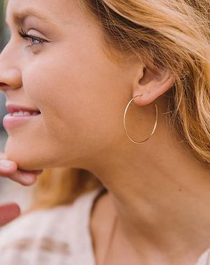 Rethreaded Hammered Hoops Earrings.