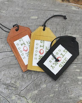 2nd Story Goods luggage tags. Ethically made in Haiti. https://www.2ndstorygoods.com/collections/home/travel