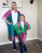 White Rainbow Project Kimono Shimmery Green Silk Made in India Fair Trade