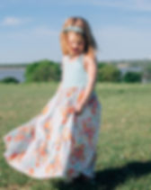 Vickery Trading Co girls maxi dress. Made in the USA by refugee women.