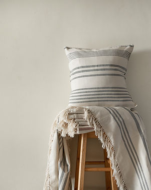 Amaka Africa Kilombera Striped Throw Blanket and Pillow