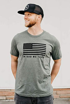 "Hope Outfitters ""In God We Trust"" T-Shirt. Ethically-made patriotic wear."