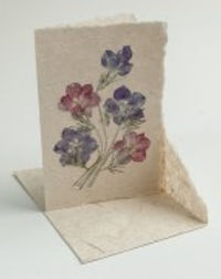 Eternal Threads handmade paper cards with pressed flowers. Fair trade. https://eternalthreads.org/product-category/gifts/page/3/