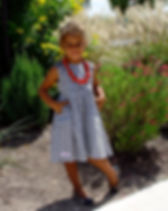 Evan Brooke Black and White Pocket Dress.