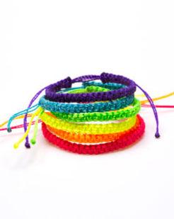 HUGG Mision Market macrame youth bracelets.