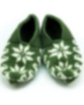 Azerbaijani Socks Green Slipper Socks. Hand knitted.
