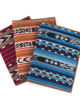 Mayan Hands notebook portfolios. Handwoven covers. Fair trade. https://www.mayanhands.org/collections/small-accessories