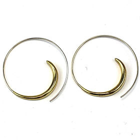 The Village Country Store swirl earrings. Fair trade and handmade by tibetan refugees. https://www.thevillagecountrystore.com/search?type=product&q=*refugees*