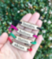 MudLOVE inspirational bracelets. Made in the USA and give back to provide one week of clean water to someone in need through Water for Good. https://www.mudlove.com/collections/all-bands