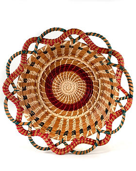 Mayan Hands basket. Fair trade and handmade by Mayan women. https://www.mayanhands.org/collections/pine-needle-baskets