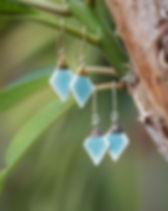 SojournStudio Bay earrings handmade in Thailand.