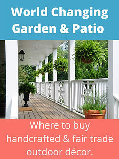 World Changing Garden & Patio Decor: Where to buy handcrafted and fair trade outdoor decor